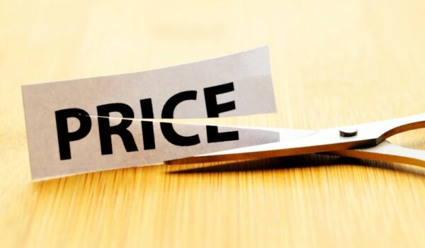 price word cut by scissors