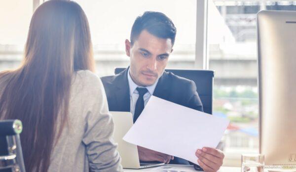 CFO analyzing financial reports