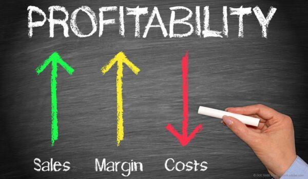 business man analyzing profits and margins